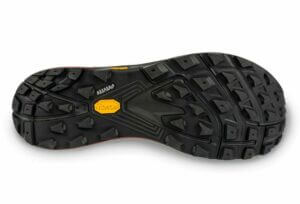 Topo Athletic MTN Racer outsole rubber lugs