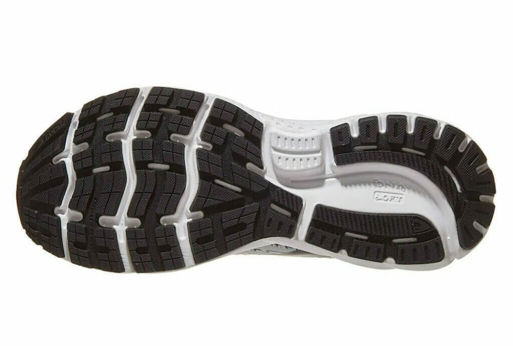 Brooks Ghost 13 rubber outsole
