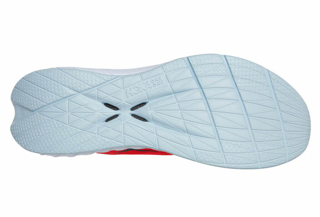 Hoka Carbon X 2 outsole foam rubber