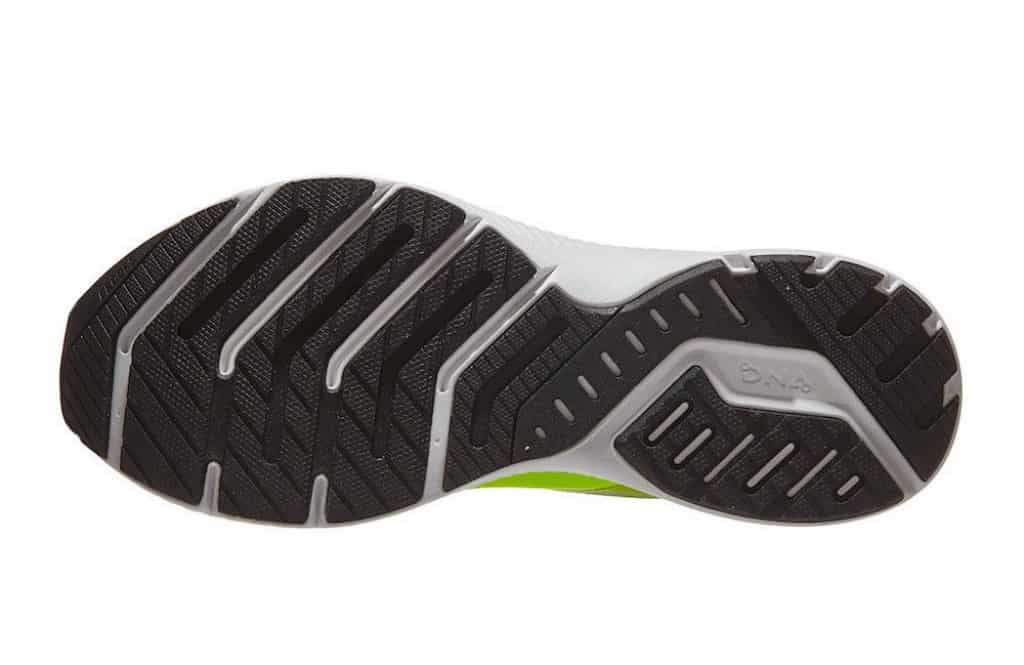 Brooks Launch 8 rubber outsole