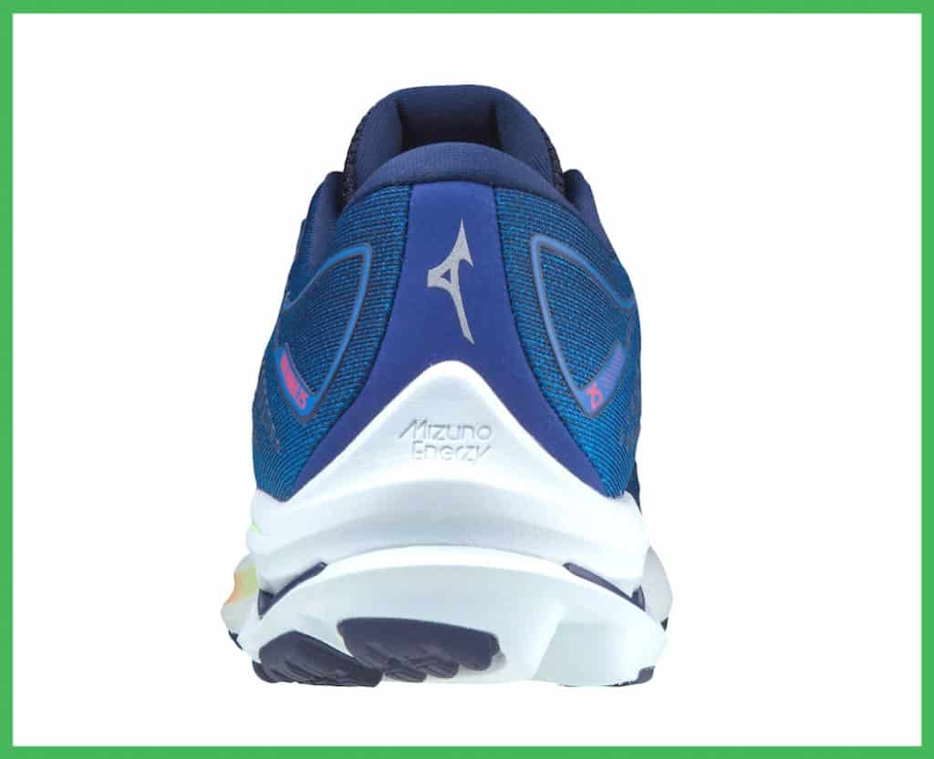 Wave Rider 25 heel counter and Mizuno Wave Plate