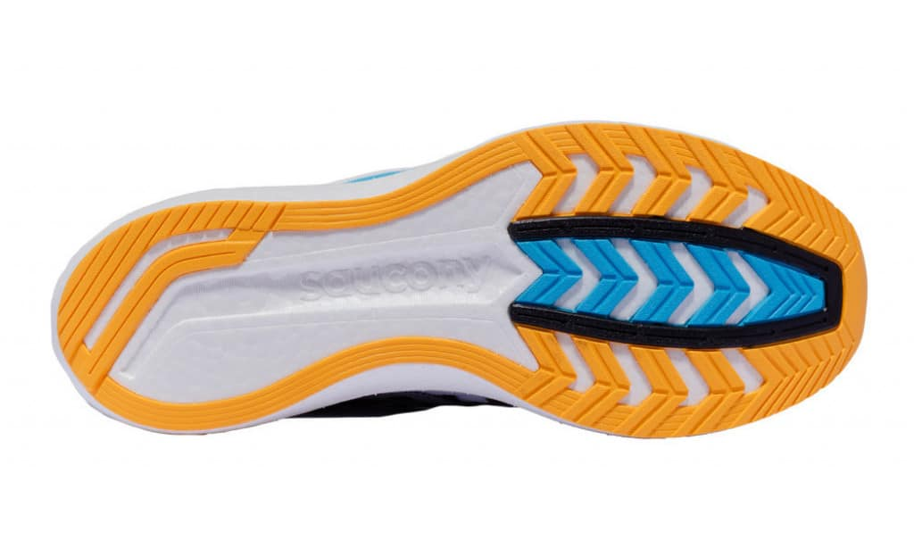 Saucony Endorphin Speed 2 carbon rubber outsole with exposed foam