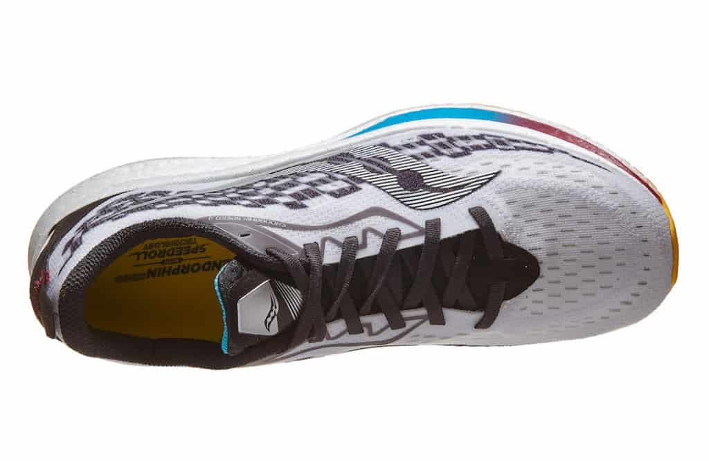 Speed 2 Saucony top view of the upper