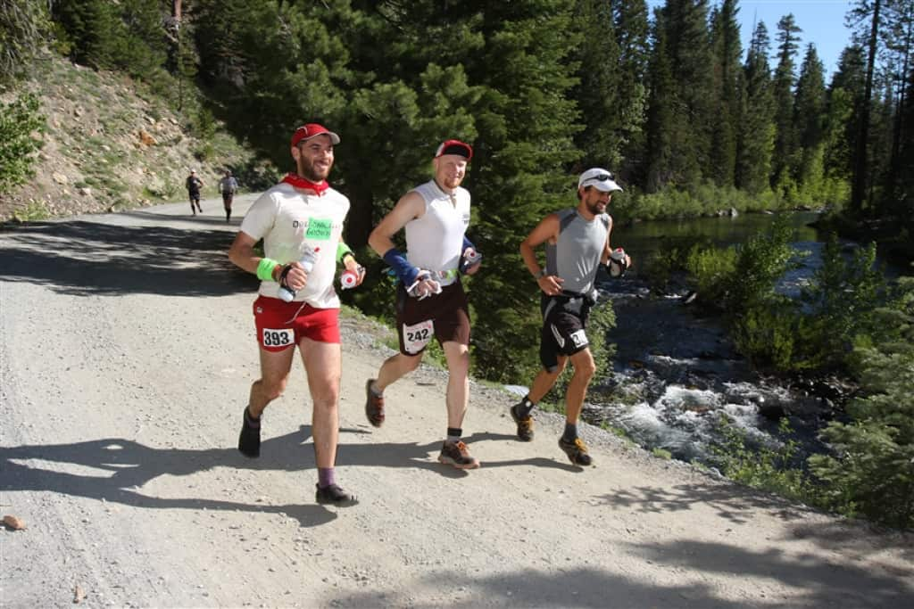 Trail runners on the Western States 100
